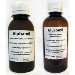 Комплект Alphamil + Glucomil на 100 кг крахмала (Амилосубтилин+Глюкаваморин)